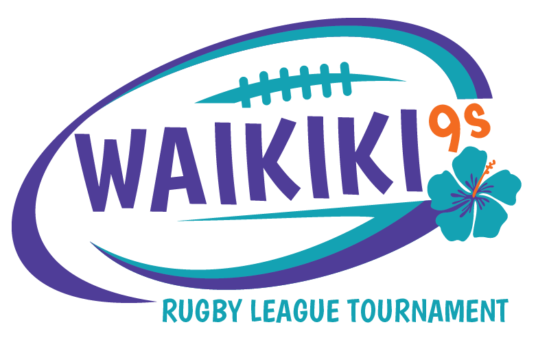 Waikiki 9s Rugby League Tournament Logo